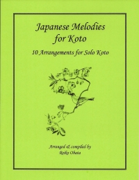 Japanese Melodies for Koto music book